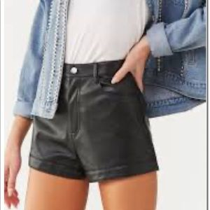 BNWT Forever 21 Leather Shorts
